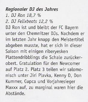 DJ RON - DJ des Jahres 2007 im 371 Stadtmagazin Chemnitz