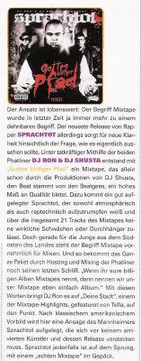 SPRACHTOT Mixtape Review / BACKSPIN Maerz 2008