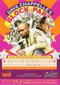 """DJ RON @ Dave Chappelle \""""Block Party\"""" Premieren Party / Brauclub / Chemnitz"""