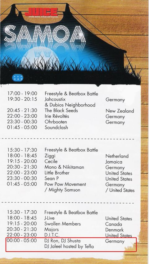 DJ RON @ SPLASH! Festival 2008 (Samoa Tent)