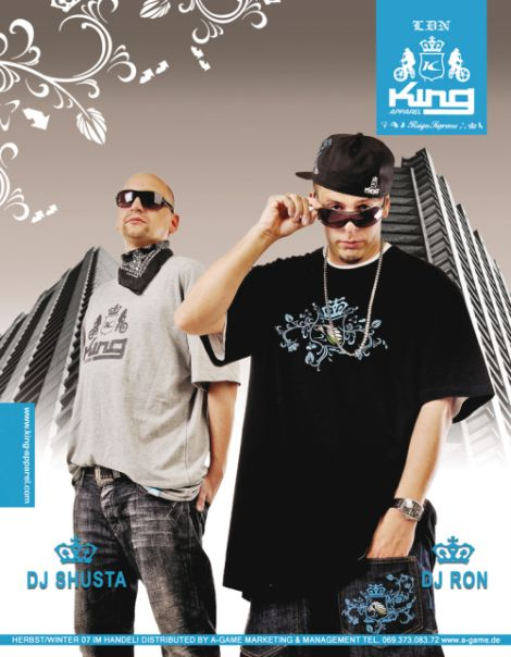 DJ RON & DJ SHUSTA - King Apparel Ad - JUICE November 2007