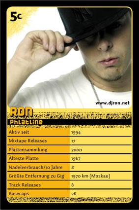 DJ Ron Spielkarte