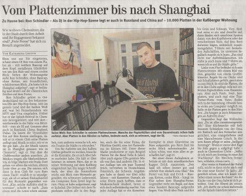 DJ Ron @ Freie Presse / 21.02.2009 / \'Zu Hause Bei\' Bericht