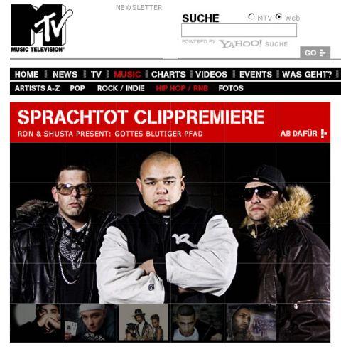 DJ RON, DJ SHUSTA & SPRACHTOT - Gottes Blutiger Pfad Premieren-Special auf MTV.DE