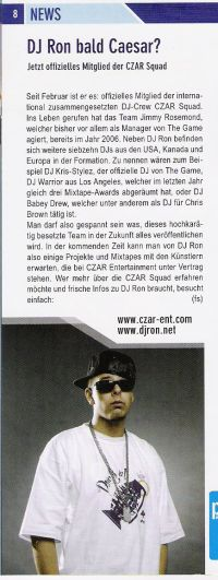 DJ RON im PORT01 Chemnitz / Maerz 2007 / News