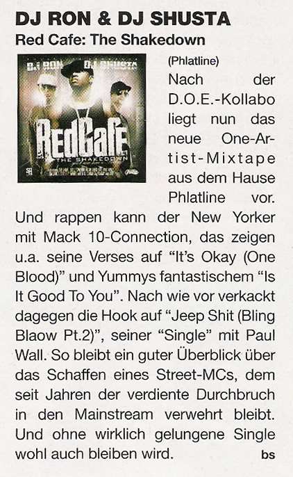 "DJ RON & DJ SHUSTA ""Red Cafe - The Shakedown\"" JUICE Magazine Review"