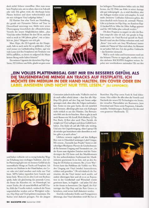 DJ RON in der Backspin - A Change Is Gonna Come, Die Letzten Tage des Kulturgutes Vinyl?